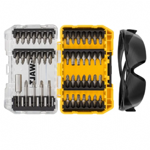 Dewalt DT70703 Screwdriver Bit Set 47 Piece & Safety Glasses